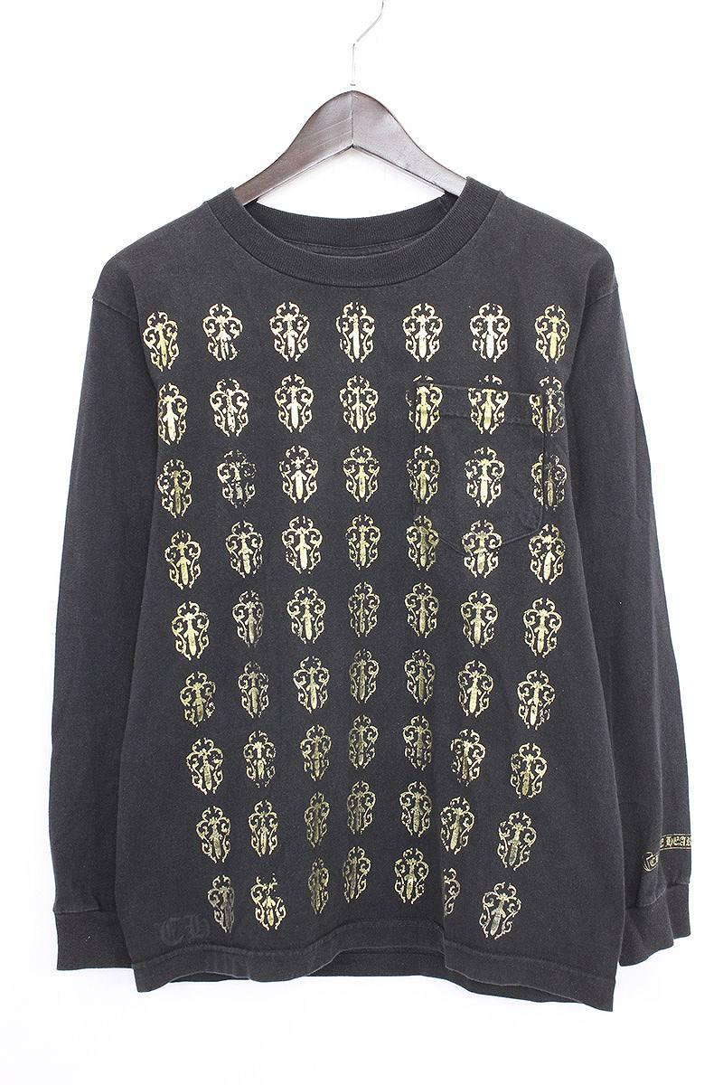 クロムハーツ/Chrome Hearts ダガープリントTシャツ(S/ブラック×ゴールド)【HJ08】【メンズ】【115081】【中古】【P】[less]bb30#rinkan*B