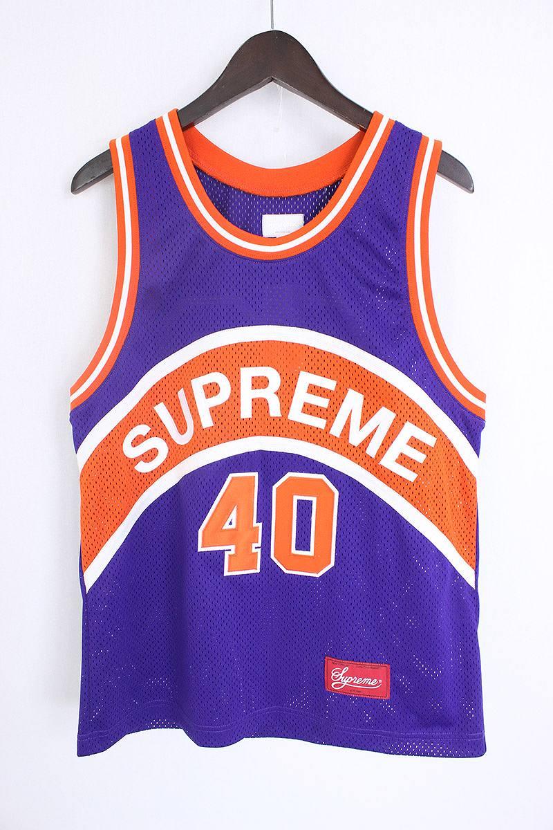 シュプリーム/SUPREME 【17SS】【Curve Basketball Jersey】バスケットボールゲームタンクトップ(S/パープル×オレンジ)【BS99】【メンズ】【417071】【中古】【P】bb14#rinkan*A