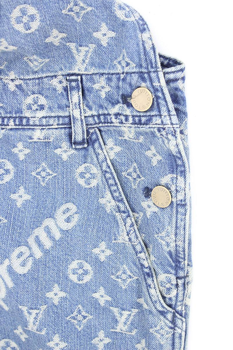 louis vuitton overalls. シュプリーム /supreme x louis vuitton louis vuitton jacquard denim overall (32/ indigo overalls