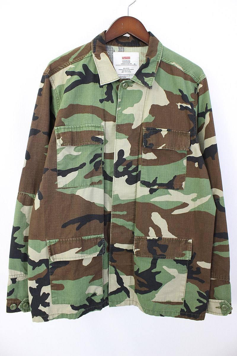 シュプリーム/SUPREME 【16SS】【Gon Butterfly BDU Jacket】バック刺繍デザインジャケット(M/グリーン×マルチ)【NO05】【メンズ】【118071】【中古】【P】[5倍]bb24#rinkan*B