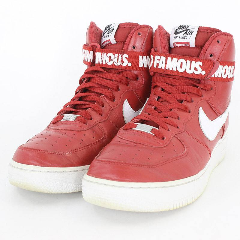 new concept 0432c 184a1 X Nike 14AW AIR FORCE1 HIGH SUPREME SP 698,696-610 air force 1 sneakers