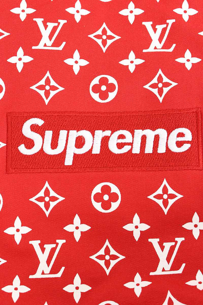 rinkan supreme x louis vuitton x louis vuitton box logo pullover parka xxl red x. Black Bedroom Furniture Sets. Home Design Ideas