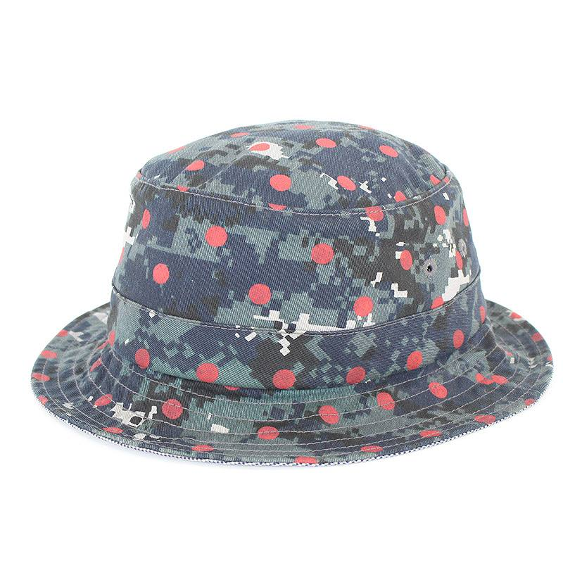 シュプリーム/SUPREME ×コムデギャルソンシャツ 【13SS】【Crusher Hat】ドット迷彩柄ハット(S/M/グレー調)【FK04】【小物】【328071】【中古】【P】bb131#rinkan*B