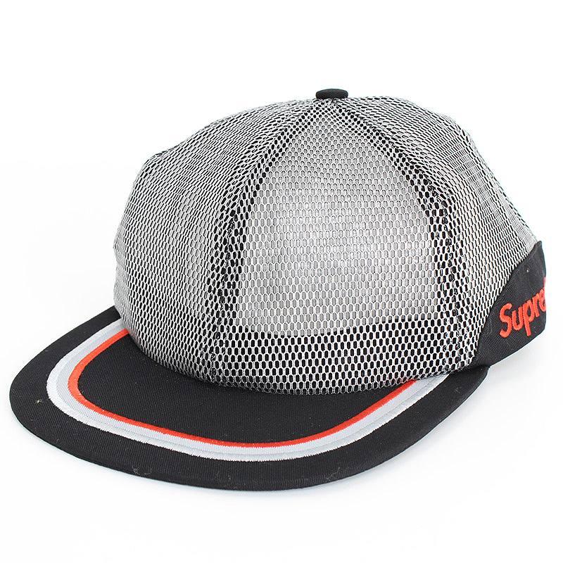 シュプリーム/SUPREME 【17SS】【Metallic Mesh 6【FK04】Panel Hat】メタリックメッシュキャップ(シルバー×ブラック)【SB01】【小物】【109071】【中古】【P】bb15#rinkan*A