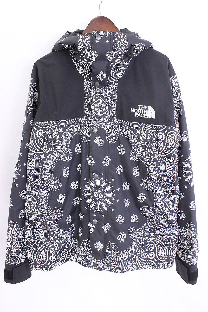 X North Face 14aw Bandana Mountain Parka Paisley Pattern Jacket