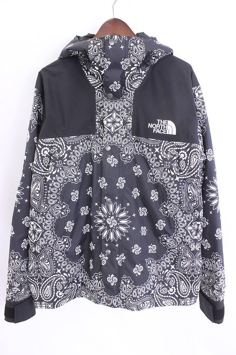 088911fad シュプリーム /SUPREME X North Face paisley bandana pattern mountain parka jacket  (L/ black) bb76#rinkan*A