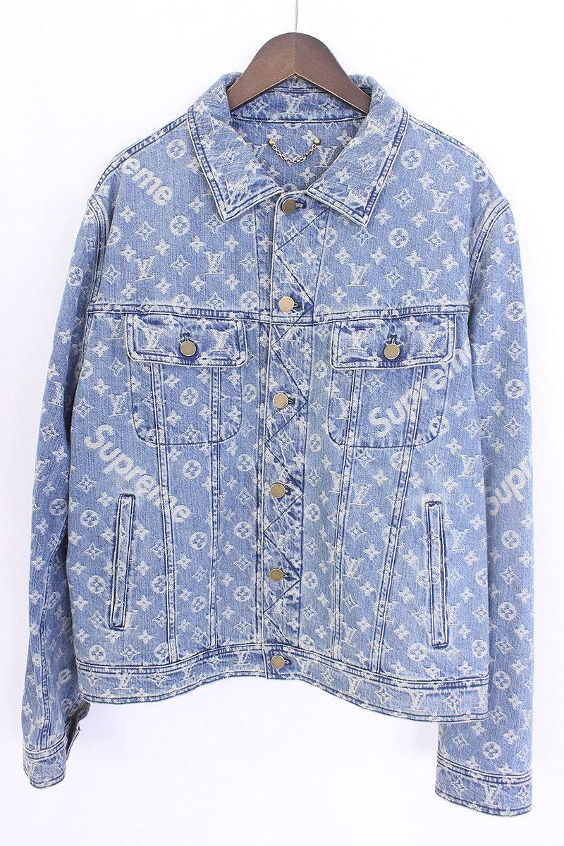 1ebf74ffe シュプリーム /SUPREME X Louis Vuitton X LOUIS VUITTON jacquard denim jacket (54/  indigo) bb146#rinkan*S