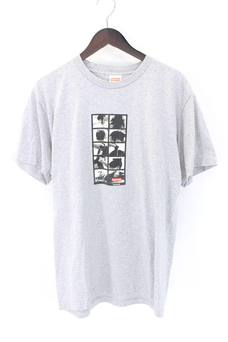 シュプリーム/SUPREME 【16AW】【SUMO TEE】フォトプリントTシャツ(L/グレー)【HJ12】【メンズ】【327081】【中古】bb33#rinkan*A
