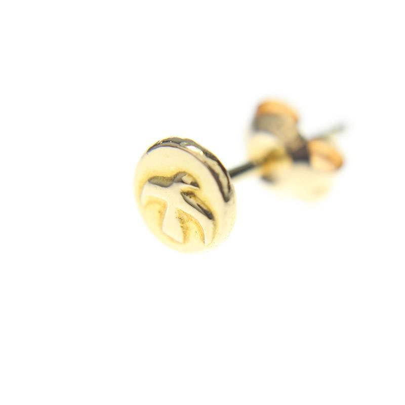 ゴローズ/goro's 【ボタンメタル 全金 S】ピアス(S/ゴールド/0.7g)【SB01】【小物】【826081】【中古】bb165#rinkan*B