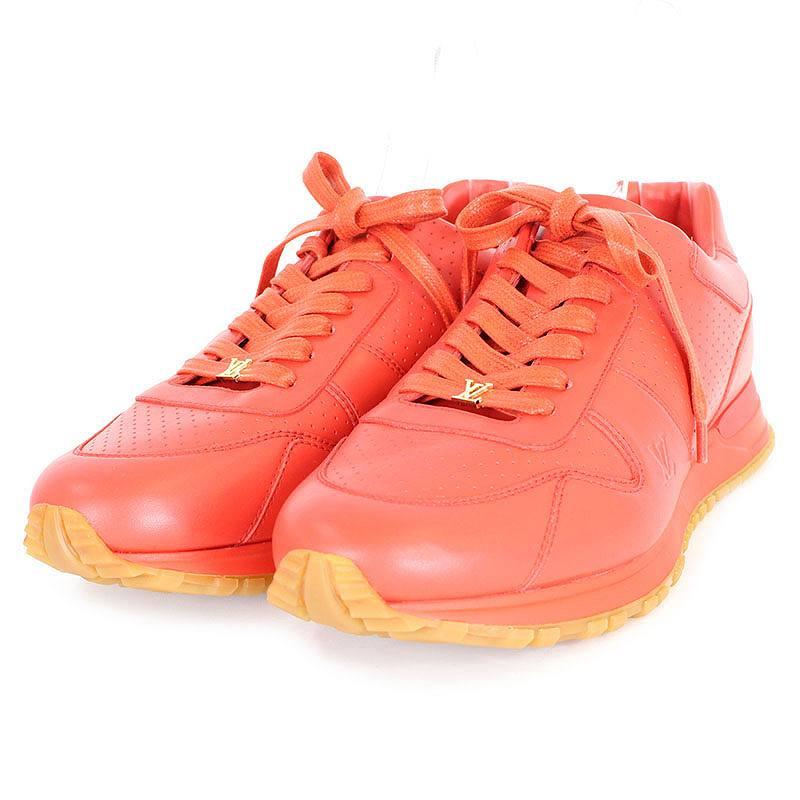 シュプリーム/SUPREME ×ルイヴィトン 【17AW】【LV Run Away Sneaker】×LOUIS VUITTONレザースニーカー(8/レッド)【HJ12】【メンズ】【小物】【016081】【中古】bb131#rinkan*S