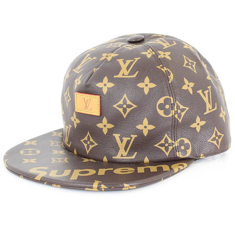 X Louis Vuitton  17AW   LV 5-Panel Hat  X LOUIS VUITTON monogram leather cap 53396f213d3