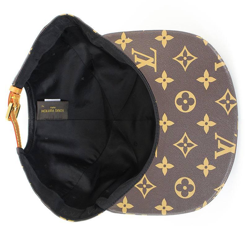 dd481af405e シュプリーム  SUPREME X Louis Vuitton X LOUIS VUITTON monogram leather cap  (brown) bb168 rinkan S