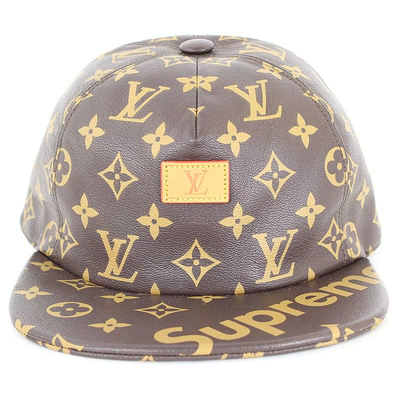 785ed8f6 ... シュプリーム /SUPREME X Louis Vuitton X LOUIS VUITTON monogram leather cap  (brown) bb168 ...