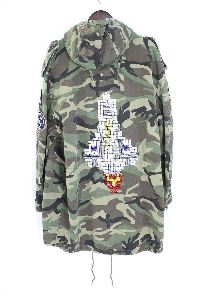 a177384befc4b [16SS] [415922 Y927L] camouflage camouflage pattern rocket military coat