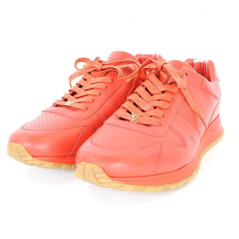 シュプリーム/SUPREME ×ルイヴィトン 【17AW】【LV Run Away Sneaker】×LOUIS VUITTONレザースニーカー(10/レッド)【OM10】【メンズ】【小物】【512171】【中古】bb177#rinkan*S