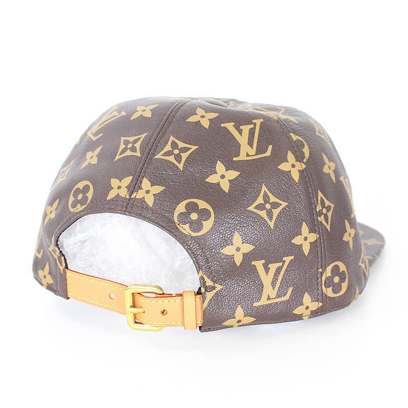 シュプリーム  SUPREME X Louis Vuitton X LOUIS VUITTON monogram leather cap  (brown) OM10bb152 rinkan S 46acaaf539e