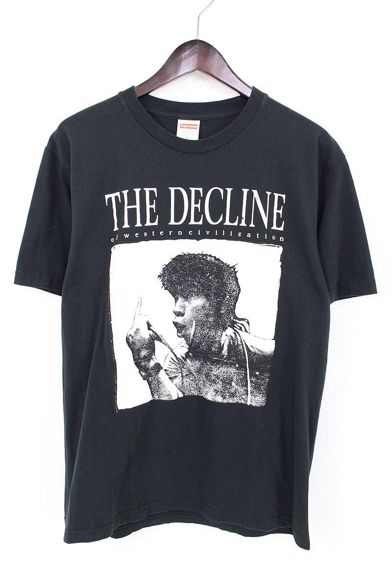 シュプリーム/SUPREME 【17AW】【Decline of Western Civilization Tee】デクラインプリントTシャツ(M/ブラック)【FK04】【メンズ】【525081】【中古】bb152#rinkan*B