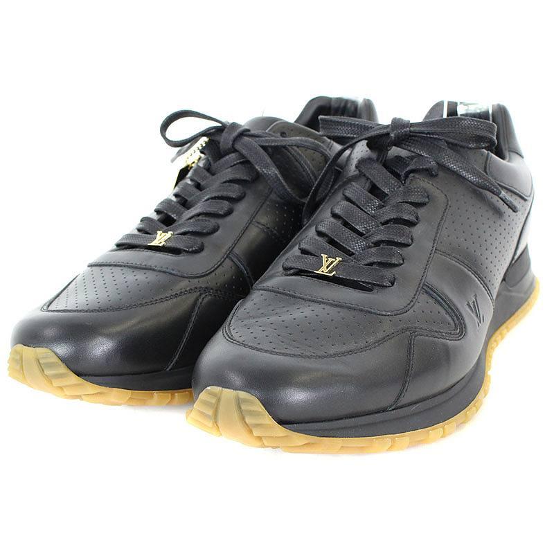 シュプリーム/SUPREME ×ルイヴィトン 【17AW】【LV Run Away Sneaker】×LOUIS VUITTONレザースニーカー(10.5/ブラック)【SB01】【メンズ】【小物】【101081】【中古】bb152#rinkan*S