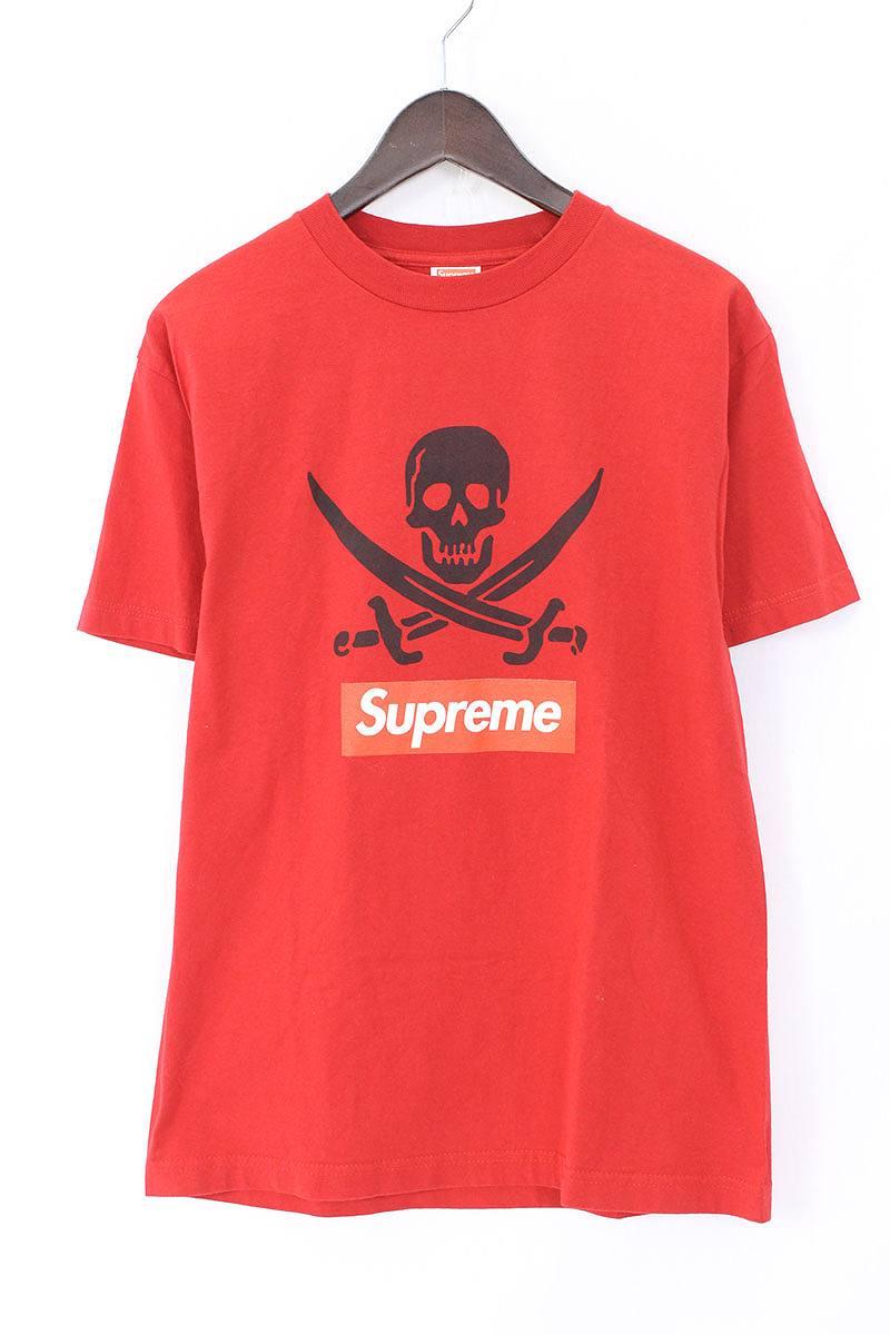 シュプリーム/SUPREME ×ネイバーフッド 【07SS】スカルプリントTシャツ(M/レッド)【SB01】【メンズ】【101081】【中古】【P】bb157#rinkan*A