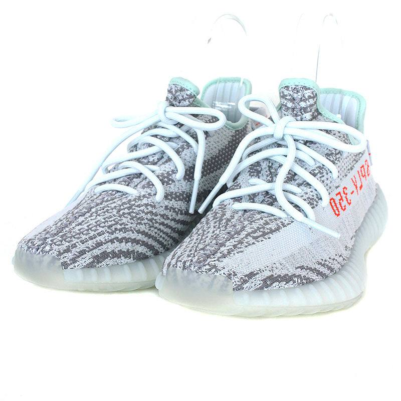 アディダス/adidas 【17AW】【YEEZY BOOST 350 V2 BLUE TINT】【B37571】ローカットスニーカー(26cm/ライトグレー×レッド)【FK04】【メンズ】【小物】【101081】【中古】bb169#rinkan*A