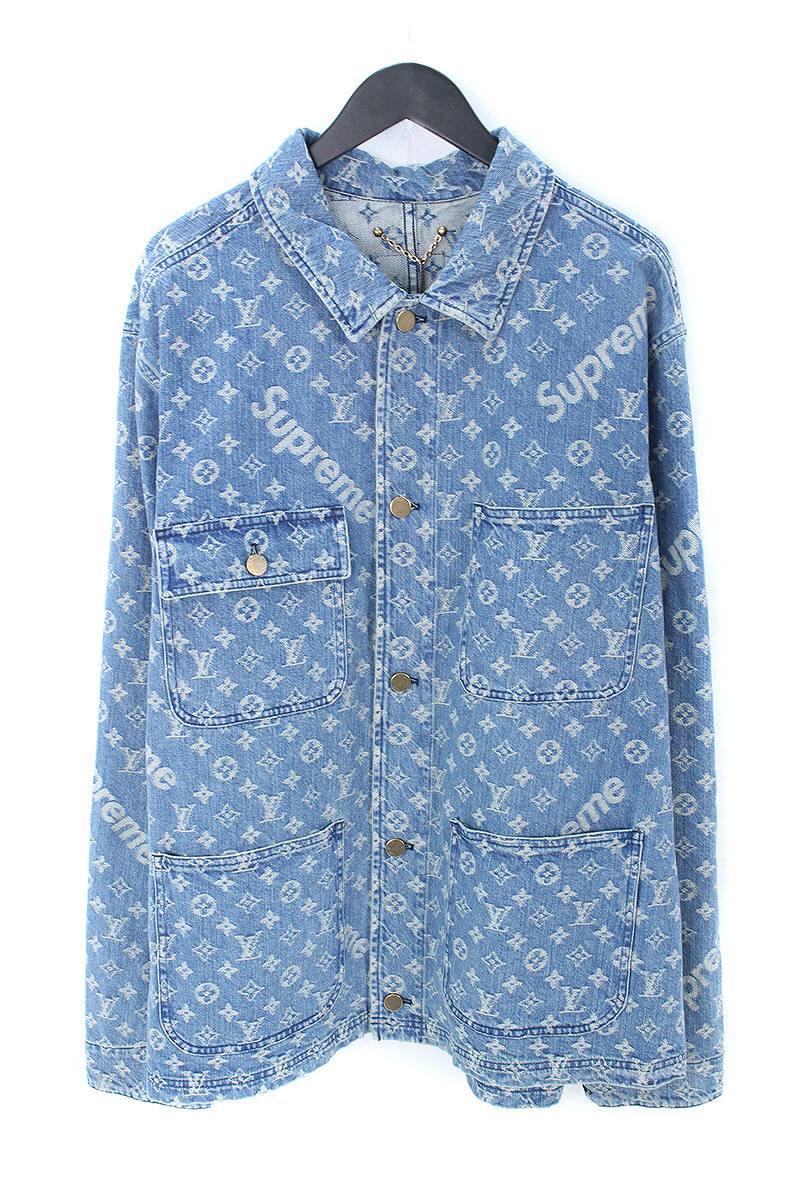 d510a6440c X Louis Vuitton  17AW   LV Jacquard Denim Chore Coat  X LOUIS VUITTON  jacquard denim coat