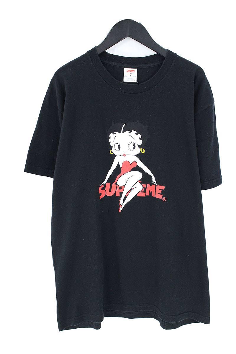 シュプリーム/SUPREME 【16SS】【Betty Boop Tee】ベティプリントTシャツ(L/ブラック)【SJ02】【メンズ】【525081】【中古】bb202#rinkan*B
