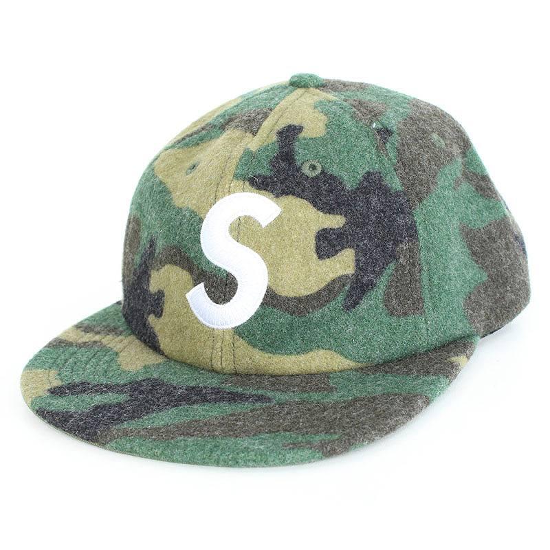 シュプリーム/SUPREME 【17AW】【Wool S Logo 6 Panel】カモフラ柄Sロゴキャップ(グリーン調)【SB01】【小物】【411081】【中古】【P】bb35#rinkan*A