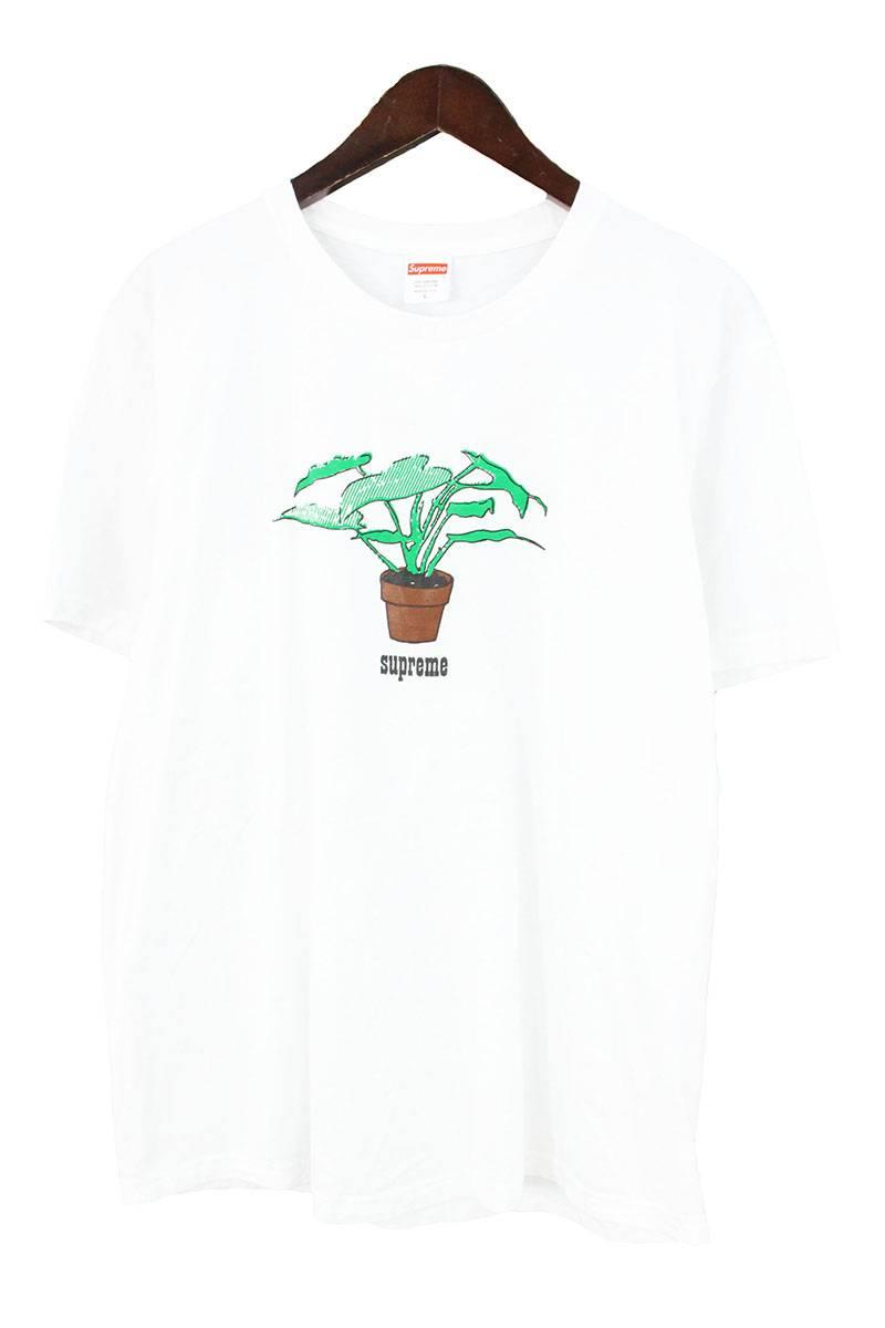 シュプリーム/SUPREME 【17AW】【Plant Tee】プラントTシャツ(L/ホワイト)【OM10】【メンズ】【426081】【中古】bb51#rinkan*B