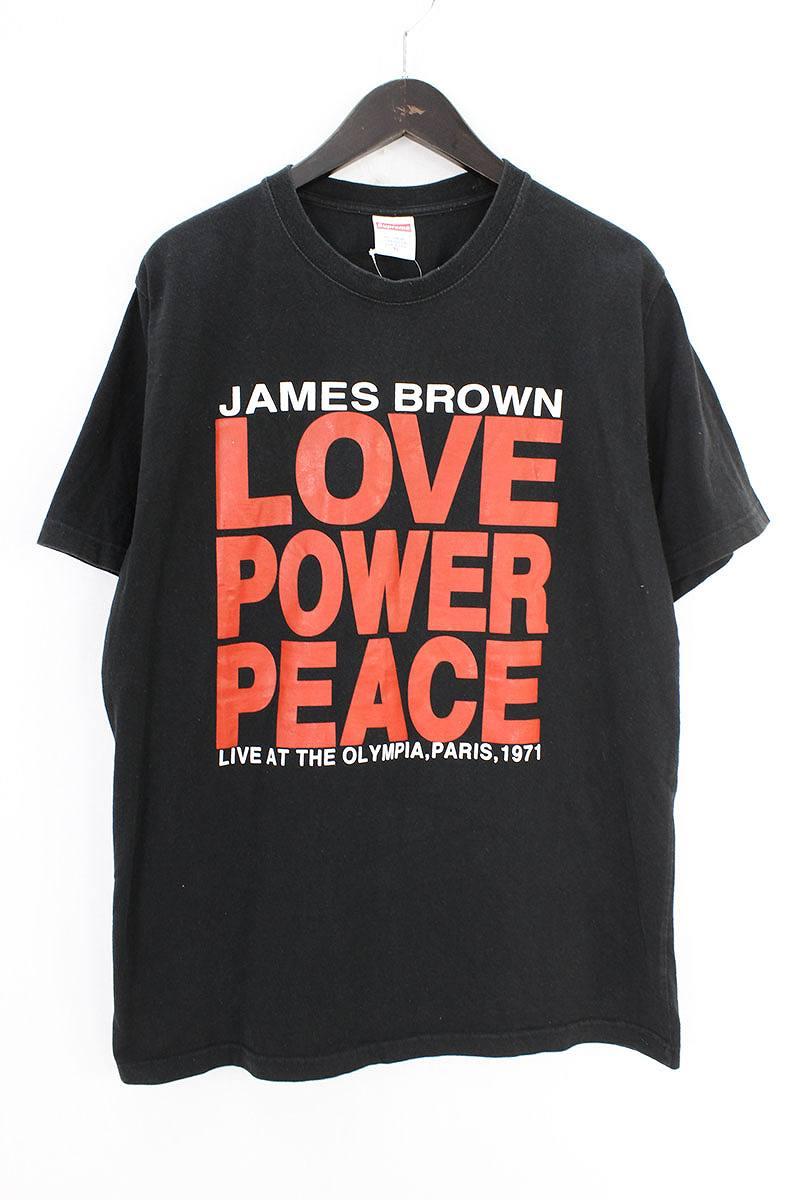 シュプリーム/SUPREME ×JAMES BROWN 【2002】【Love Power Peace Tee】ラブパワーピースTシャツ(XL/ブラック)【OM10】【メンズ】【525081】【中古】bb35#rinkan*B