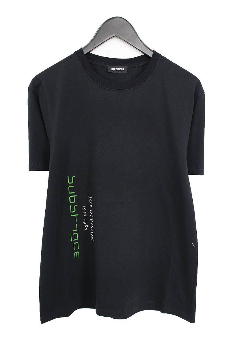 ラフシモンズ/RAF SIMONS 【18SS】【Joy Division】ジョイディヴィジョンプリントTシャツ(L/ブラック×ホワイト)【SB01】【メンズ】【402081】【中古】bb20#rinkan*N-