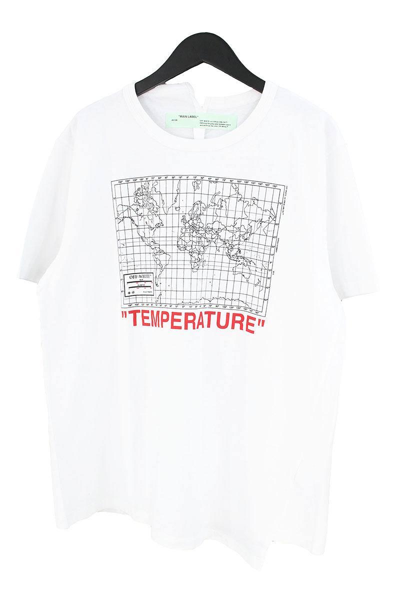 オフホワイト/OFF-WHITE 【18SS】【MAP SPLICED】バックアローマッププリントオーバーサイズTシャツ(M/ホワイト×ブラック)【NO05】【メンズ】【902081】【新古品】bb20#rinkan*N