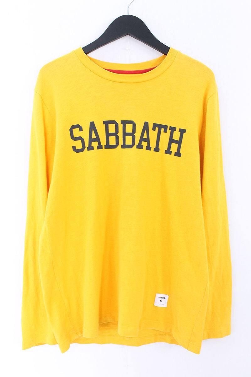 シュプリーム/SUPREME ×BLACK SABBATH 【13AW】【Sabbath L/S Tee Black】SABBATHプリント長袖カットソー(M/イエロー)【SB01】【メンズ】【525081】【中古】【P】bb127#rinkan*A