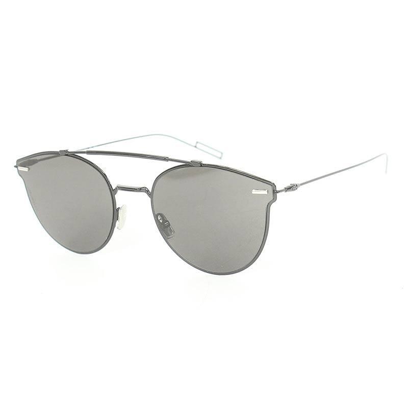 ディオールオム/Dior HOMME 【8072K】ボストンフレームサングラス(57□20/(フレーム)ブラック(レンズ)クリアブラック)【BS99】【小物】【903081】【中古】【P】bb33#rinkan*A
