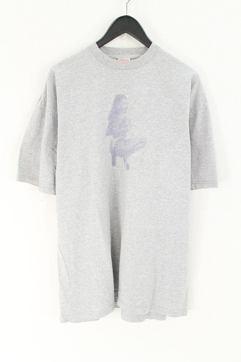 シュプリーム/SUPREME 【Digi Tee】1998年初期Tシャツ(XL/グレー)【OM10】【メンズ】【303081】【中古】【P】bb157#rinkan*B