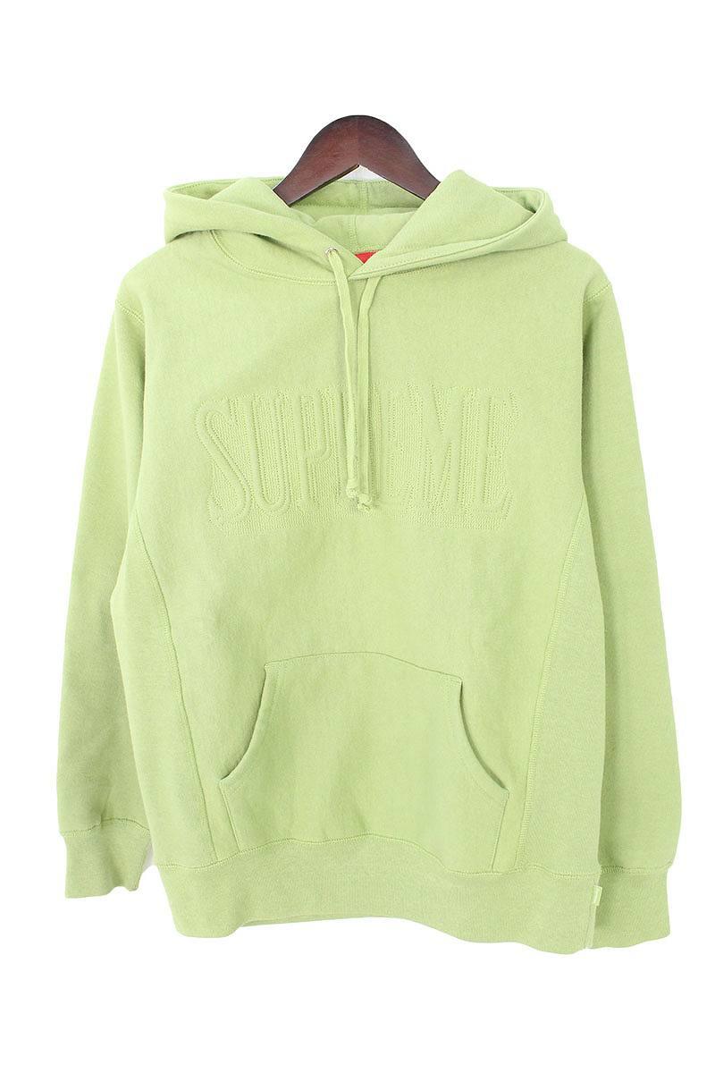 シュプリーム/SUPREME 【16AW】【Supreme Embroidered Outline Hooded Sweatshirt】ロゴプルオーバーパーカー(S/グリーン)【SB01】【メンズ】【303081】【中古】bb76#rinkan*S
