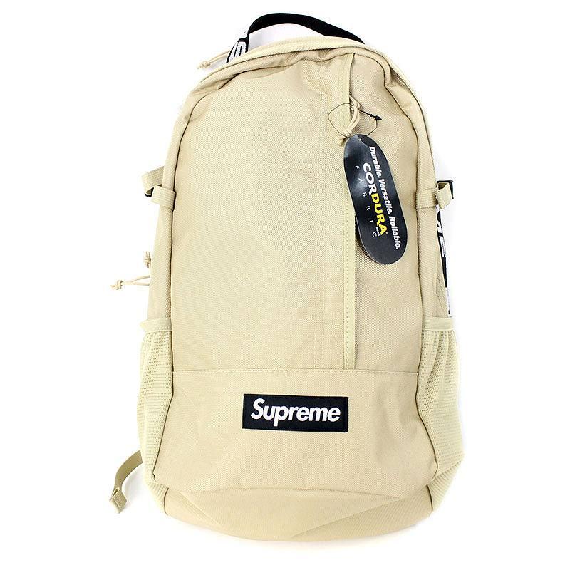 シュプリーム/SUPREME 【18SS】【Backpack】ボックスロゴナイロンバックパック(ベージュ)【SB01】【小物】【622081】【中古】【P】bb131#rinkan*S