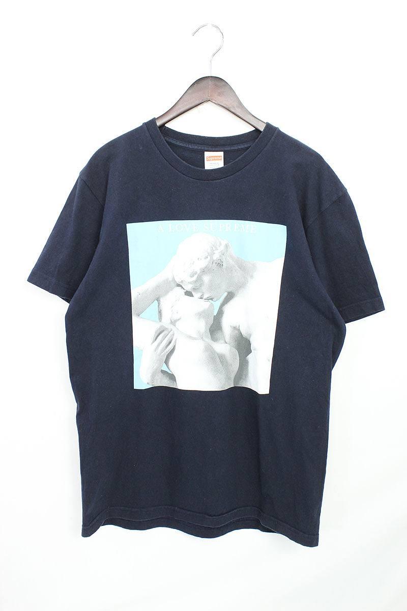 シュプリーム/SUPREME 【14AW】【A Love Supreme Tee】Tシャツ(L/ネイビー×ライトブルー)【HJ12】【メンズ】【016081】【中古】bb26#rinkan*B