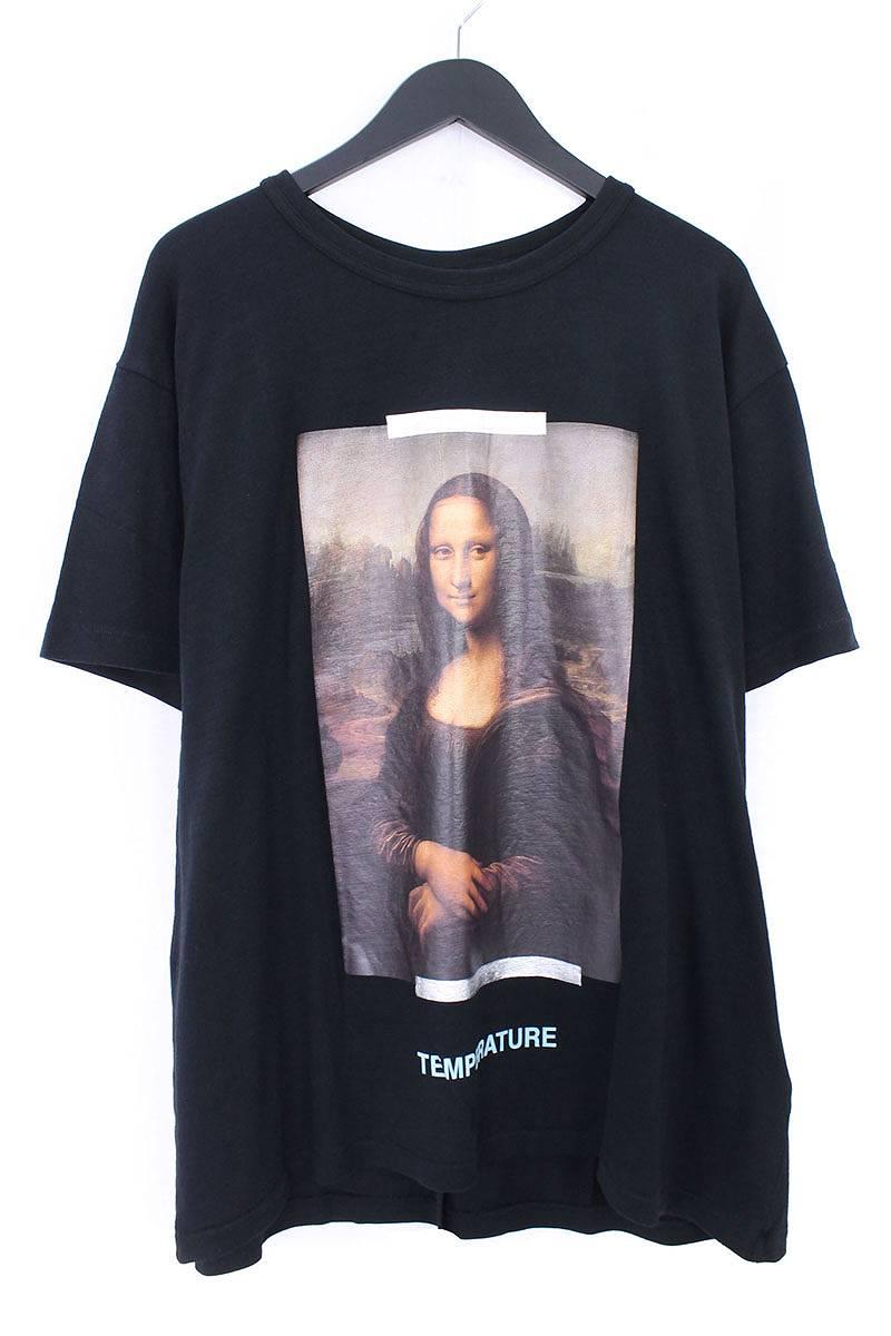 オフホワイト/OFF-WHITE 【18SS】【MONALIZA】モナリザプリントオーバーサイズTシャツ(M/ブラック)【NO05】【メンズ】【403081】【新古品】bb20#rinkan*N