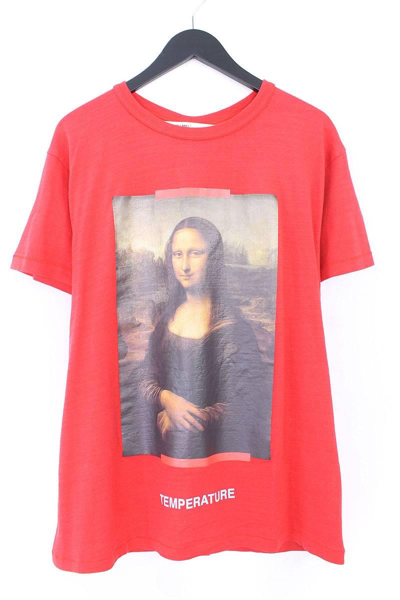 オフホワイト/OFF-WHITE 【18SS】【MONALIZA】モナリザプリントオーバーサイズTシャツ(S/レッド)【OM10】【メンズ】【403081】【中古】bb20#rinkan*N-