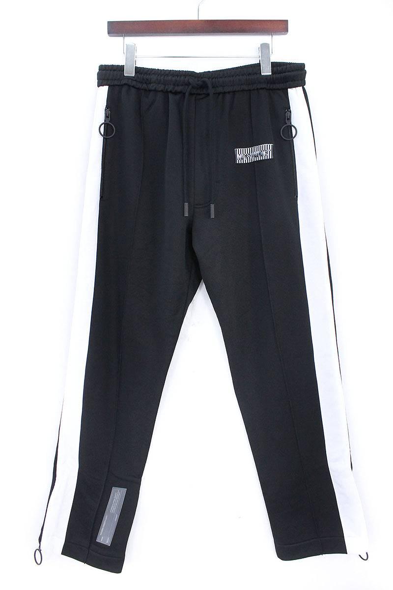 ブラック オフホワイト メンズ 【送料無料】 黒 トラックパンツ BLACK ディアゴナル OFF-WHITE OMCA049F17246031/1001 プリント