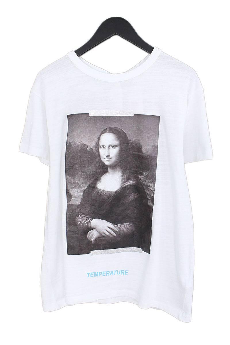 オフホワイト/OFF-WHITE 【18SS】【MONALIZA】モナリザプリントオーバーサイズTシャツ(XS/ホワイト×ブラック)【SB01】【メンズ】【403081】【新古品】bb20#rinkan*N
