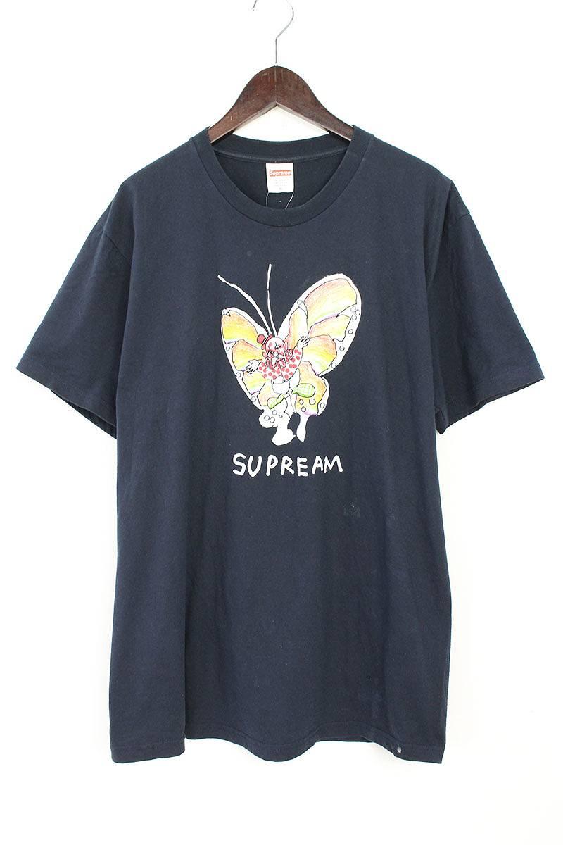 シュプリーム/SUPREME 【16SS】【Gonz Butterfly Tee】ゴンズバタフライプリントTシャツ(XL/ネイビー)【NO05】【メンズ】【324081】【中古】【P】bb131#rinkan*B
