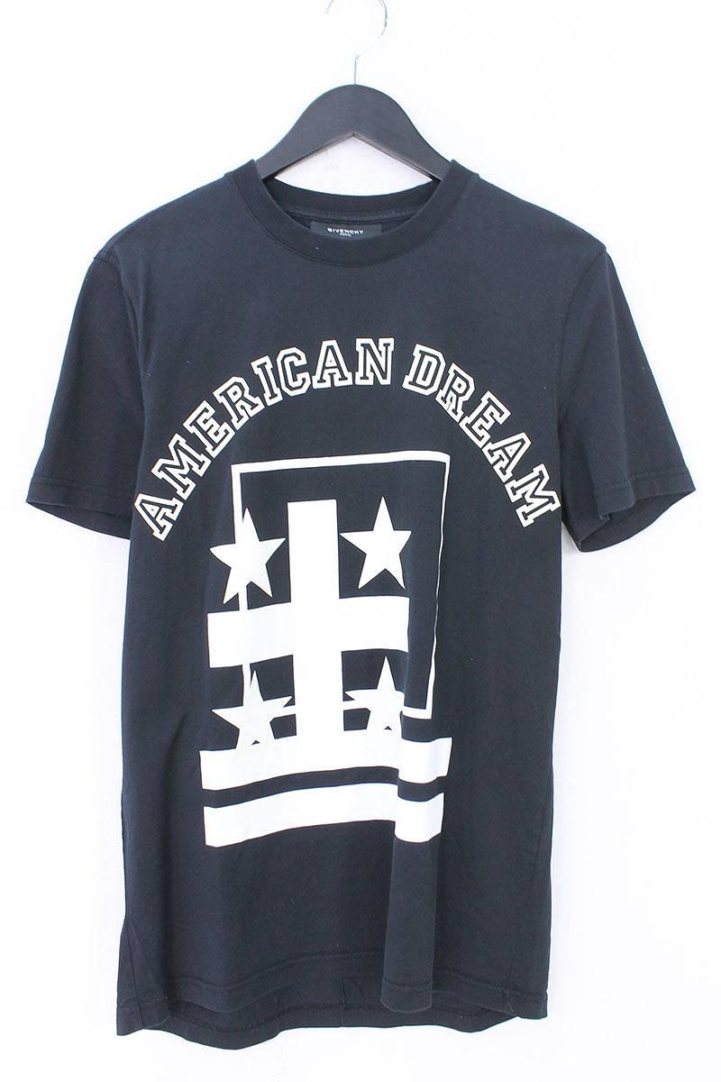 ジバンシィ/GIVENCHY 【12AW】【AMERICAN DREAM TEE】ロゴTシャツ(S/ブラック×ホワイト)【OM10】【メンズ】【324081】【中古】【P】bb154#rinkan*B