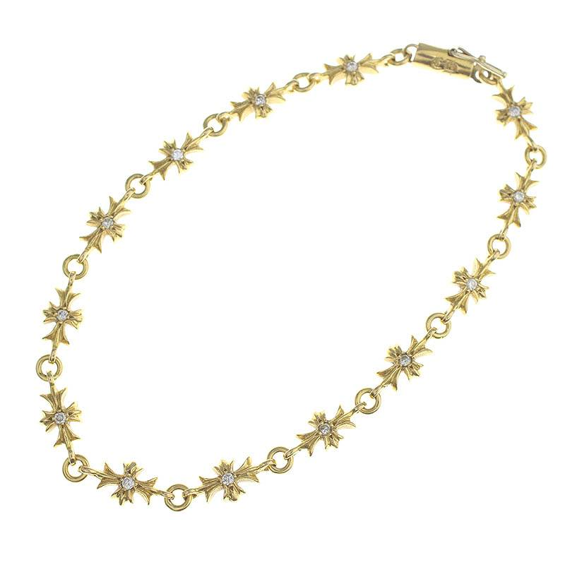 Rinkan Chromic Hertz Chrome Hearts Pave Diamond Gold Bracelet