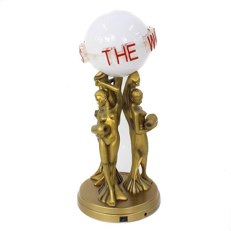 シュプリーム/SUPREME ×スカーフェイス 【17AW】【The World Is Yours Lamp】ランプライト(ゴールド×ホワイト)【FK04】【小物】【033081】【中古】【P】bb30#rinkan*A