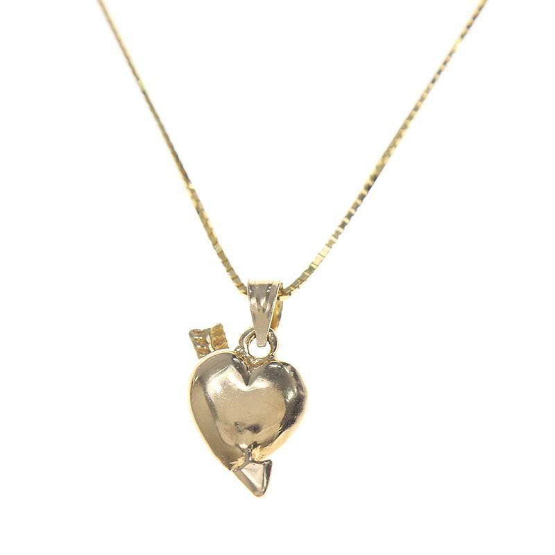 シュプリーム/SUPREME 【17SS】【Gold Heart and Arrow Pendant】14K ハートアローネックレス(ゴールド/5.07g)【OM10】【小物】【404081】【中古】【P】bb51#rinkan*A