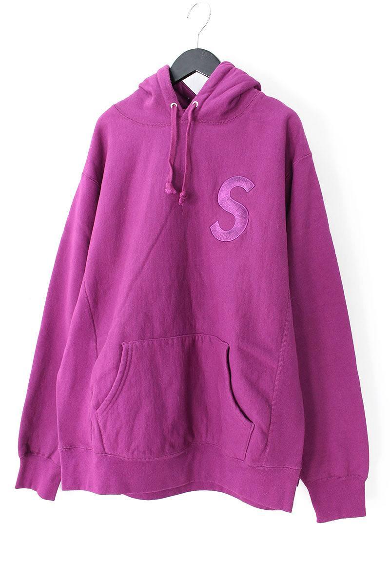 シュプリーム/SUPREME 【17AW】【Tonal S Logo Hooded Sweatshirt】Sロゴ刺繍パーカー(L/パープル)【OS06】【メンズ】【604081】【中古】bb51#rinkan*B