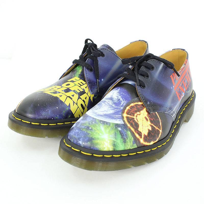 シュプリーム/SUPREME ×アンダーカバー/UNDERCOVER 【18SS】【Public Enemy 3-Eye Shoes】×UNDERCOVER総柄ブーツ(9/ブラック×グリーン)【OM10】【メンズ】【小物】【804081】【中古】【P】bb177#rinkan*S