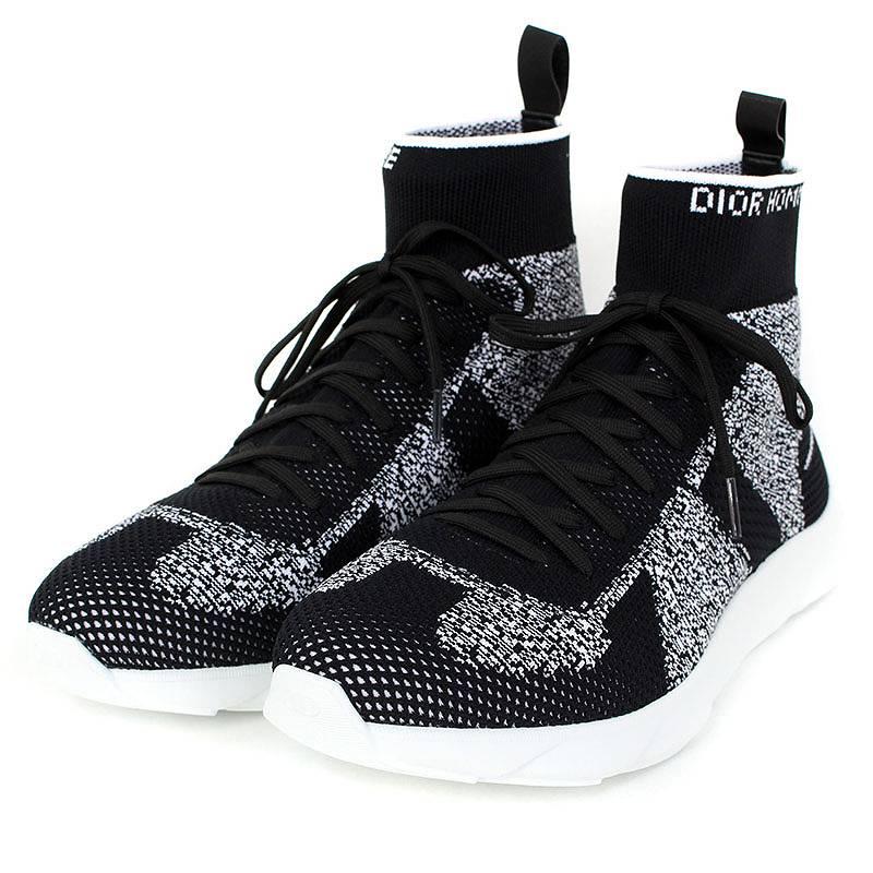 ディオールオム/Dior HOMME 【18SS】テクニカルニットスニーカー(41/グレー×ブラック×ホワイト)【SB01】【メンズ】【小物】【504081】【新古品】bb20#rinkan*N