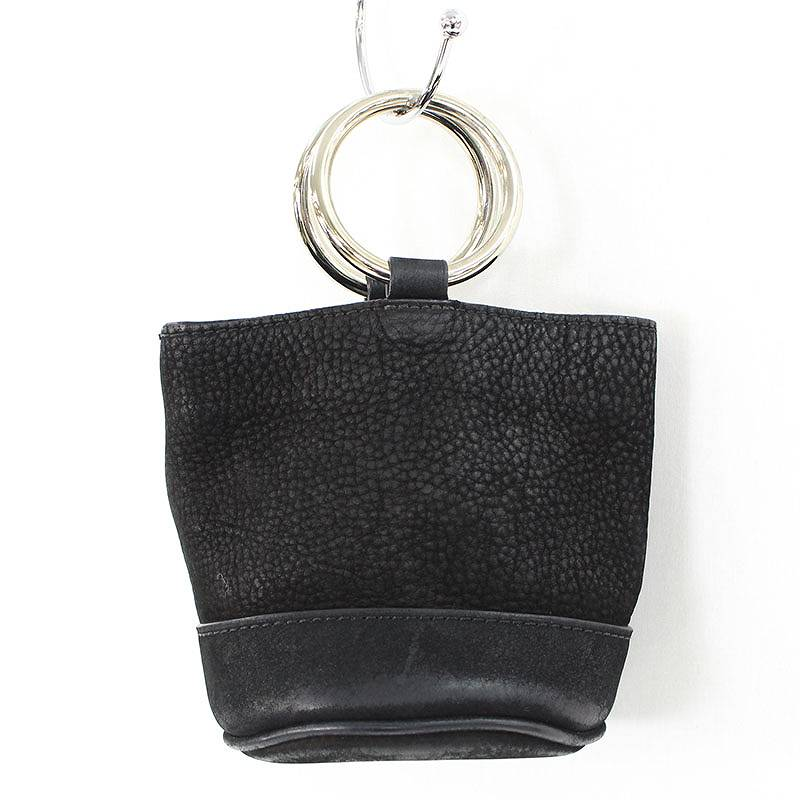 サイモンミラー/SIMONMILLER 【Bonsai 15 nubuck bucket bag】レザーバケットハンドバッグ(ブラック)【SK03】【小物】【105081】【中古】bb30#rinkan*B